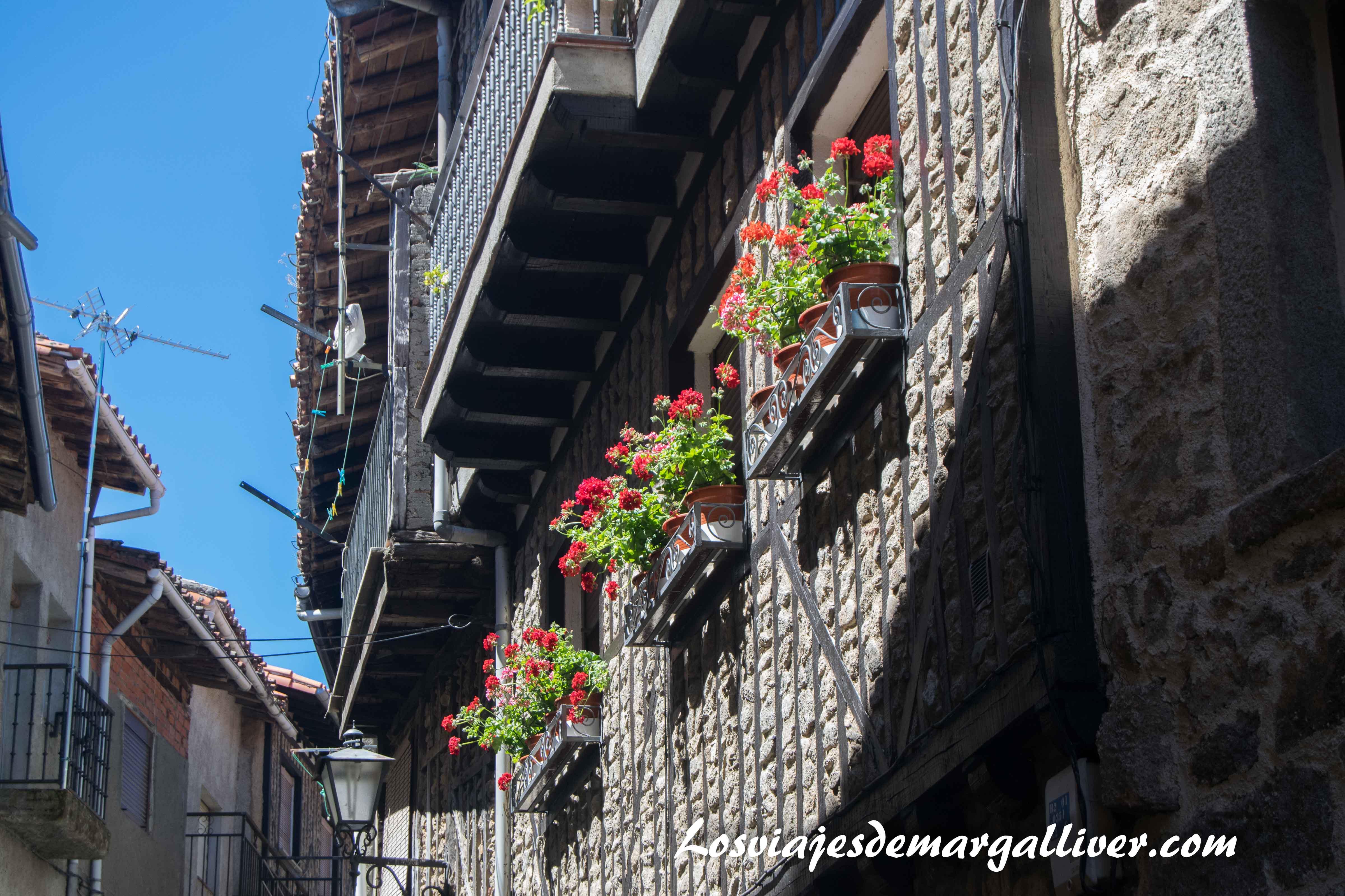 Fachada de una casita ,que ver en La Alberca -Los viajes de Margalliver